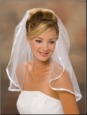 "20"" Long, with a 3/8"" Ribbon Edge Veil"