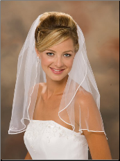 "20"" Long, Soutache Edge Veil"