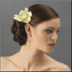 Realistic Looking Bridal Orchid Flower Hair Clip