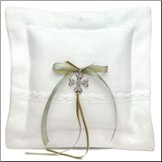 Celtic Charm Square Ring Pillow