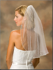Pearl Edge Veil, shoulder length