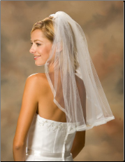 Sheer Ribbon Edge Bridal Veil