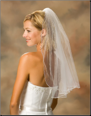 Soutache Edge Veil Shoulder length