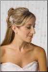 "9"" French illusion veil with side hair accessory"
