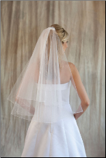 Circular Cut and Folded Wedding Veil