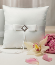 Pure Elegance in Wedding White Square Ring Pillow