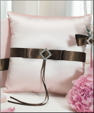 Chocolate and Strawberry Cream Square Ring Pillow