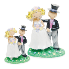 Comical Bride and Groom Figurine