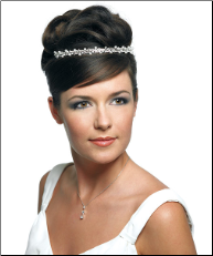 White Pearl Waves Tiara
