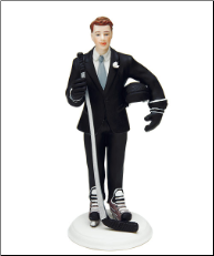 Hockey Groom Mix & Match Cake Topper NEW