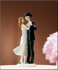 """A Sweet Western Embrace"" Cake Topper"
