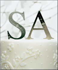 Jeweled Monogram Cake Toppers NEW