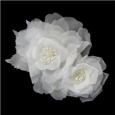 Sheer Flower Bridal Headpiece Comb