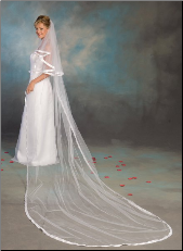 "7/8"" Cathedral Ribbon Edge Veil"