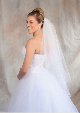Colored corded edge Veil 17 colors