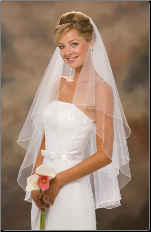 "30""x36"" Corded Edge Veil"