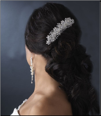 Elegant Pearl and Swarovski Crystal Bridal Hair Comb