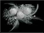 White or Ivory Bridal Hair Flower