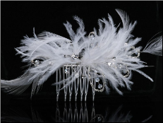 Wedding Hair accessory in white or ivory