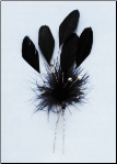 Colored Feather Bridal Flower Pin