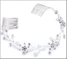 Clear- Silver flexible tiara vine
