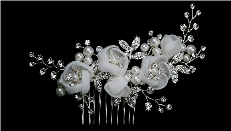 Pearl and Rhinestone Hair Comb