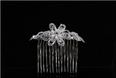 Bridal Hair Comb in Silver