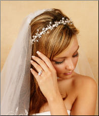 Crystal & Pearl Floral Tiara Headband (Available in Silver or Gold)