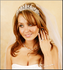 Crystal & Rhinestone Tiara (Available in Silver or Gold)