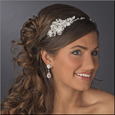 Beautiful Crystal Side Accented Bridal Headpiece Headband