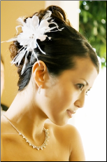 Bridal Feather Hair Piece with Crystals