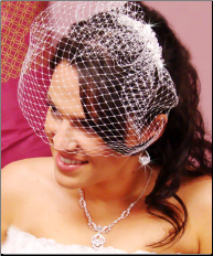 Elegant Crystal Comb with Face Cage Veil