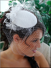 Vintage Style Bridal Hat with Bird Cage Veil