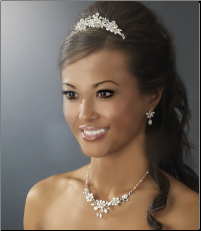 Silver Floral Bridal Jewelry Set