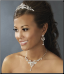 Beautiful Silver Crystal Bridal Jewelry Set
