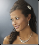 Silver Pearl Bridal Jewelry Set NE