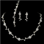 Crystal Floral Vine 3 Piece Bridal Jewelry Set