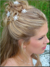 Crystal Flower Hair Pin
