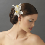 Delicate orchid flower hair pin