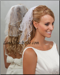 "10"" X15"" Rhinestone Edge Wedding Veil"
