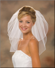 Short Corded Edge Bridal Veil
