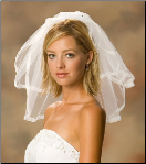 Sheer Edge Bridal Veil with Rhinestones