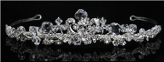 Crystal Royal Bridal Tiara # T931