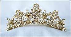 TC827 Tiara in Silver