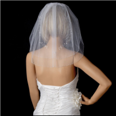 Bridal Wedding Double Layer Shoulder Length Veil