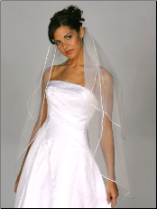 Two tier Cording (Rattail) Edge Veil