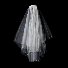 Bridal Wedding Veil Two Layer Elbow Length