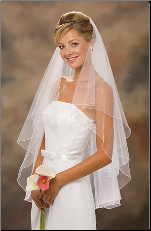 "30""x 36"" two-tiered circular veil"