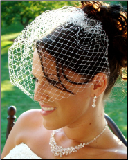 Bird Cage Couture Bridal Veil on Comb