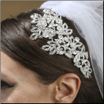 Dramatic Couture Silver Headpeice